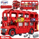 Winner 7118 Electric Double Layer London Bus Building Blocks