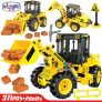 Winner 7077 Mixer Car Combination Road Roller Building Blocks
